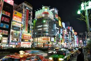 Kabukicho at night, Shinjuku, Tokyo