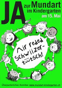 Plakat grün. Glocalization à la Suisse