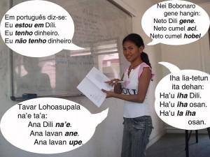 An East Timorese girl speaking Bunak, Tetum, Fataluku and Portuguese (Source: Wikipedia)