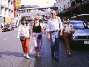 From left: Mariko Watanabe, Helga and Guy Pachet, and Punsuri Revirava in Yawara, Bangkok, 1989