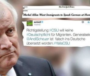 """This tweet says: """"CSU issues correction: its proposal was translated into German incorrectly"""""""