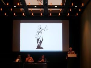 Professor Simon Rice OAM makes his presentation