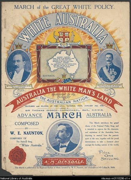 Australia: The White Man's Land (Source: NLA)