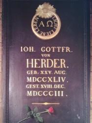 Herder's tombstone in Weimar