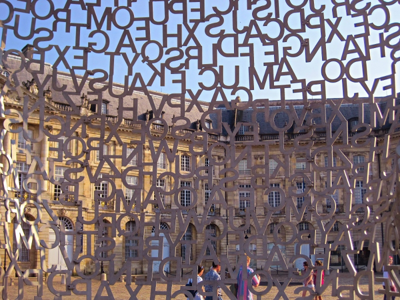 From inside Jaume Plensa's House of Knowledge, art installation, Bordeaux, France (Photo source: Shirley Yeung)