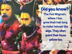 """Country """"fact"""" about Papua New Guinea on collectible card, 2016"""