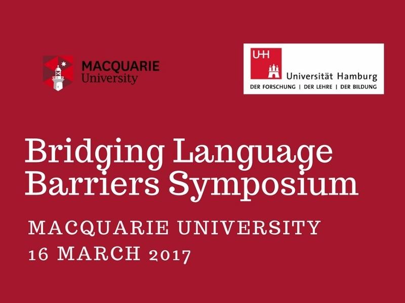 Bridging Language Barriers Symposium: Program Update